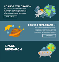 cosmos exploration and space research promotional vector image vector image