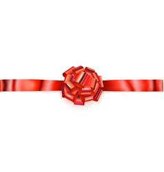 big horizontal bow of shiny ribbon vector image vector image