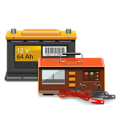 Car Battery Charge Concept vector image vector image