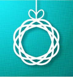 Circle Paper Applique on Green Canvas Background vector image vector image