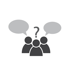 conversation talking vector image