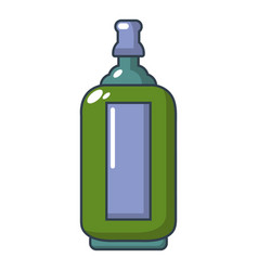glass bottle icon cartoon style vector image