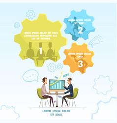 meeting infographic set vector image vector image