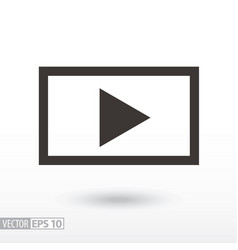 player flat icon sign video player vector image vector image