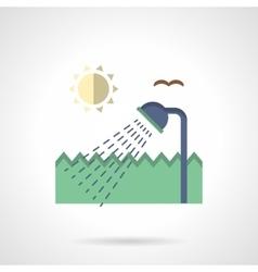 Summer flat color design icon vector image vector image