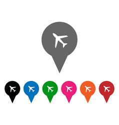 Airport pointers vector image