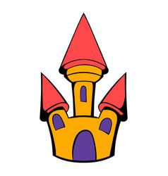 castle icon cartoon vector image vector image