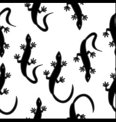monochrome seamless texture in the form of lizards vector image