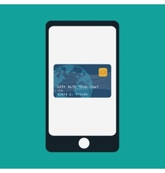 smartphone mobile payment app vector image vector image