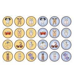 Zodiac web buttons vector image vector image