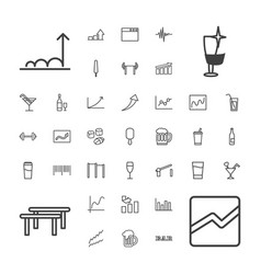 37 bar icons vector