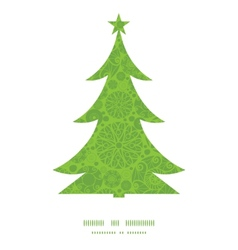 abstract green and white circles Christmas tree vector image