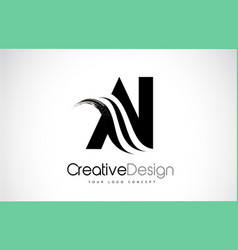Ai a i creative brush black letters design with vector