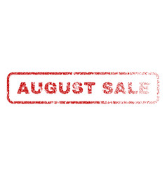 August sale rubber stamp vector