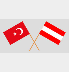 Austria and turkey flags vector