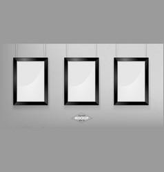 black photo frame mockup vector image