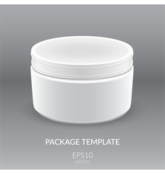 Blank Cosmetic Container for Cream vector image