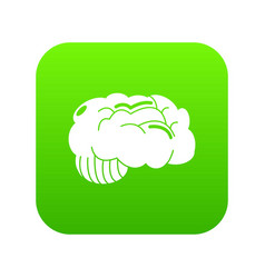 brain icon green vector image