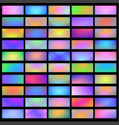 bright holographic banners horizontal fluid vector image