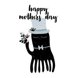 Card with calligraphy lettering happy mothers day vector