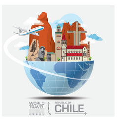 Chile Landmark Global Travel And Journey vector image