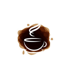 coffee graphic design template vector image
