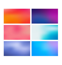 collection blurred backgrounds vector image