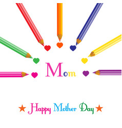 colorful background for mothers day vector image