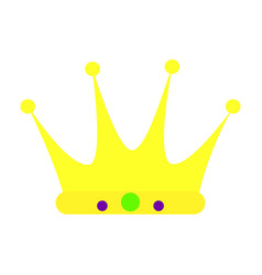 Colorful carnival crown vector
