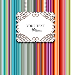 Colorful fabric background design vector image