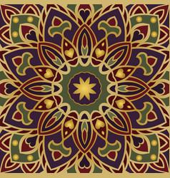 Colorful oriental ornament vector