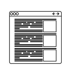 Data icon Website design graphic vector image