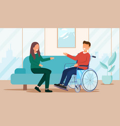 Disabled people communication vector