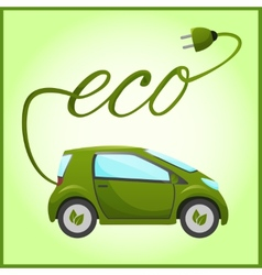 Electric car with eco design vector image