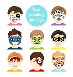 Face painting 2 vector