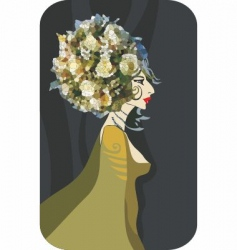 flower queen vector image