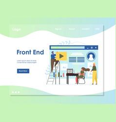 front end website landing page design vector image