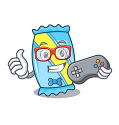 gamer candy mascot cartoon style vector image