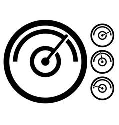 gauge meter symbol icon at 4 stages pressure vector image