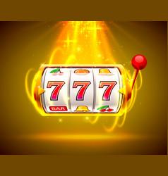 Gold slot machine wins jackpot big win slots vector