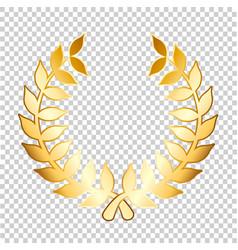 Golden laurels on transparent background stock vector