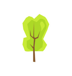 green tree plant icon isolated vector image