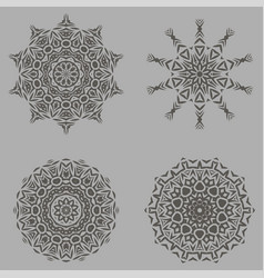Grey ornamental ornament vector