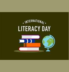 happy international literacy day logo vector image