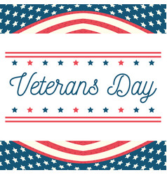 happy veterans day hand drawing letters american vector image