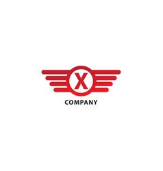 Letter x initial abjad logo design template vector