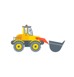 loader with bucket side view vector image