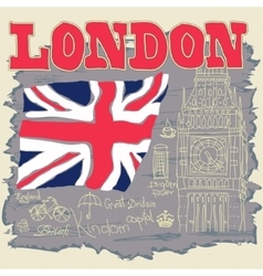 London Typography Graphics T-shirt design vector image