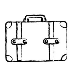 monochrome blurred silhouette of leather suitcase vector image