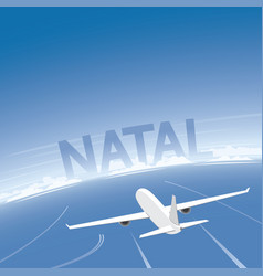 Natal flight destination vector